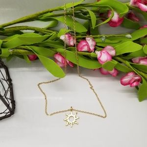 """Jewelry - *Price Drop* """"Good Vibes Only"""" Dainty Sun Pendant"""